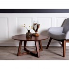 Hellerup Coffee Table - Coffee table in walnut veneer Ø 75 cm