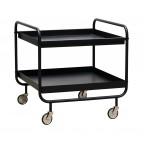 House Doctor - Trolley - Roll - l: 60 cm, w: 60 cm, h: 60 cm - Zwart