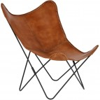 Kave Home - Fauteuil - bruin - 77 x 100 x 93 - Tan - Stof-metaal