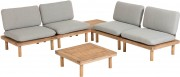 Loungeset - Viridis - Naturel - Kave Home 4 persoons