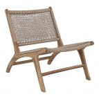 Derby Chair - Chair in teak and polyrattan